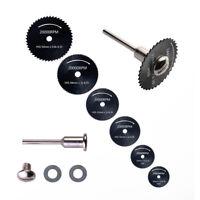 6PCS HSS Rotary Tool Metal Circular Saw Blades Cutting Discs Mandrel for Cutoff