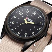 New Shark Army Men's Fashion Nylon Sport Military Analog Quartz Men Wrist Watch