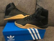 Men's adidas Originals Tubular Instinct Boost Shoes Black gum rubber by3611 8.5