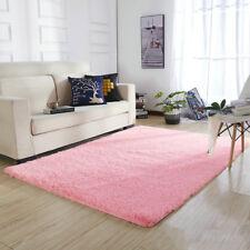 Shaggy Fluffy Rugs Bedroom Floor Mat Anti-Skid Area Rug Dining Room Home Carpet