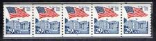 2609 - 29c Flag Over White House - PNC - Plate Number Coil Strip of 5 - #6