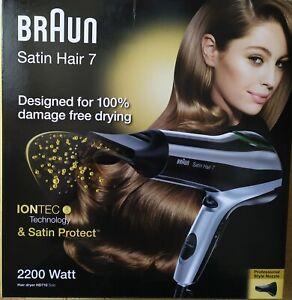 BRAUN Satin Hair 7 HD 710 mit IONTEC, Haartrockner, 2200 Watt, Schwarz OVP
