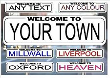 London Street Sign, Reproduction Street Sign football Team Signs Personalised