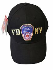 FDNY Baseball Hat Police Badge Fire Department Of New York City Black & Gold...