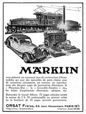 *** MARKLIN - Automobiles et Locomotives *** 1933 - pub. (12 x 16) // a066
