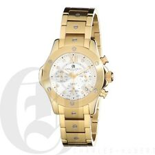 Charles-Hubert Womens Chronograph Watch Stainless Steel Gold 6782-G