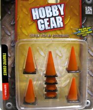 Hobby Gear 1/24 - 1/18 Traffic Cones Set of 8 Great For Dioramas, RC Cars & More