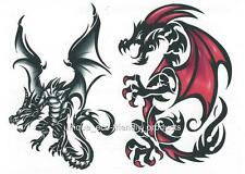 DRAGON SHEET TAT # 3391 GREAT COLOR GREAT PRICE Temporary Tattoo