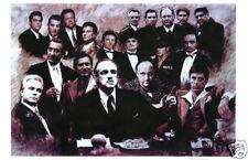 Scarface Soprano Godfather Good fellas Gotti Mafia collage  24x36 inches