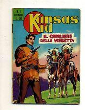 KANSAS KID #IL CAVALIERE DELLA VENDETTA# Serie Dakota-N.1-10 Aprile 1963 # Corno