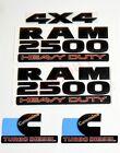 3x OEM Matte Black RAM 2500 HEAVY DUTY 4X4 Cummins Turbo Diesel  Emblem Badges