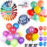 "10-100 Plain,Pearl Metallic Latex Balloons 5""10""12"" Helium Wedding Party Balloon"
