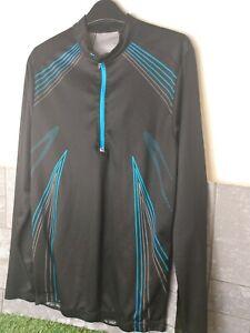 Crivit cycling Jersey large long sleeve black