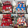 Father Christmas Santa Presents Quilt Duvet Cover Double King Bedding Sets