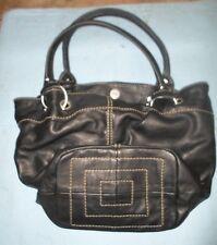Tignanello- Black Leather Tote bag Purse *BW-A2-1
