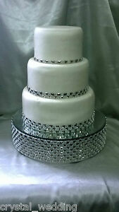 Diamante  cake stand -  faceted design