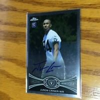F55419  2012 Topps Chrome Rookie Autographs #195 Juron Criner RAIDERS