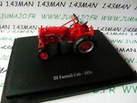 TR37W Tracteur 1/43 universal Hobbies n° 118 IH Farmall Cub 1956
