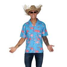 Hawaiian Shirt Pink Flamingo Tropical Top