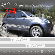 2 FASCE DESIVE STIKERS DECAL SOTTO PORTA FUORISTRADA DAIHATSU TERIOS OFF ROAD