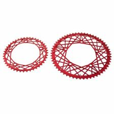 KCNC Cobweb Serie CNC 7075 Alloy Chainring Set 58-44T,BCD 130mm, Red