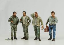 Retro Mechaniker Mann Figur Set 4 Figuren 1:24 American Diorama