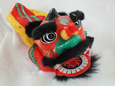 CHINESE BLACK LUCKY DRAGON LION HEAD DANCE HAND MUPPET PUPPET CHILDREN PARTY C2