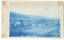 Cyanotype RPPC NEW MILFORD PA Susquehanna Co Pennsylvania Real Photo Postcard