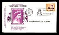 Canada 1967 Royal Visit FDC / Kenmore Cachet & Insert / UA - L12365