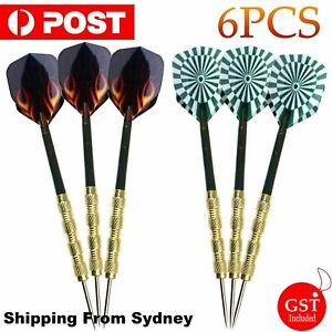 2 sets of Steel Tip Darts Stainless Barrel With Aluminium Shafts Steel Tip Darts