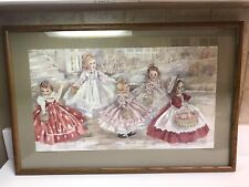 Mary Hulgan The Little Women Christmas of Sharing Limited Edition Framed Print