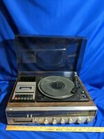 AM-FM Stereo 8 Track/Cassette Tape Player Recorder Receiver System Turntable