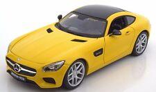 MAISTO 2015 MERCEDES AMG GT YELLOW 1:18 NEW STOCK!