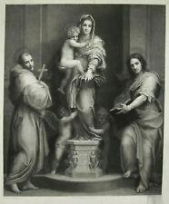Gravure c1890 La Vierge-Madone des Harpies A F Dezarrois d'ap Andrea del Sarto