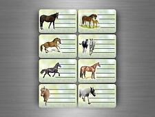 16x Etichetta Sticker Libro Scuola etichette con nome NOTEBOOK FERMO DIARIO Cavallo