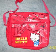 "NWOT 2007 SANRIO HELLO KITTY RED APPLE TREE SATCHEL BAG BOOK BAG  NOTEBOOK 13""H"