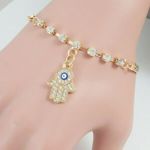 Bracelet for woman with Hamsa Charms Gold Plated Wonder Girl Lady Presents Gifts