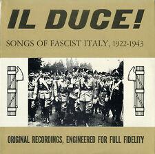 """""""IL DUCE"""" Songs of Fascist Italy 1922-1943 (LP 33 tours USA) MINT"""