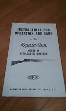 Original Remington Model 11 Automatic Shotgun Manual  C74