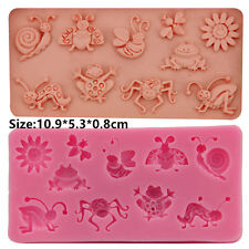 Snail Bee Frog Silicone Cake Mould Fondant Sugar Craft Chocolate Decorating Tool