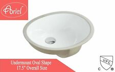 15-3/4-Inch Stone Resin Solid Surface Round Shape Bathroom Vanity Vessel Sink