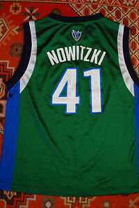 Dirk Nowitski Dallas Mavericks #41 NBA Basketball Jersey Adidas Youth M (10-12)