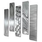 Modern Abstract Large Metal Wall Art 5 Panels contemporary Decor Jon Allen
