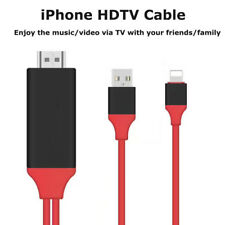 For iPhone 6S 7 Screen To TV Cable HDMI 1080p IOS Adapter USB Charger Converter