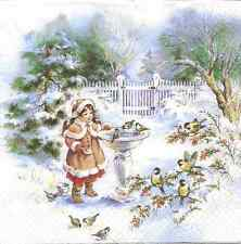 4 Single Paper Napkins for Decoupage Little Sophy Christmas Winter