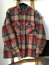 Shirt Jacket High Sierra Mervyns Large Quilted Lining Western Retro Vintage
