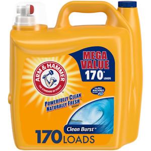 Arm & Hammer Clean Burst, 170 Loads Liquid Laundry Detergent, 255 Fl oz