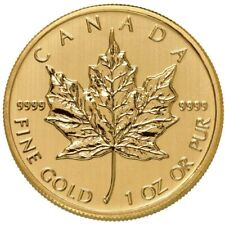 1 oz Canadian Gold Maple Leaf Coin .9999 Pure (Varied Year, Condition)