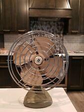 "Rare Vintage 8"" Oscillating Desk Fan by Montgomery Ward MODEL KW-2473 Made USA!"