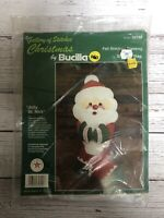 Vintage Bucilla Christmas Stocking Kit Felt Stitchery Jolly St Nick Santa